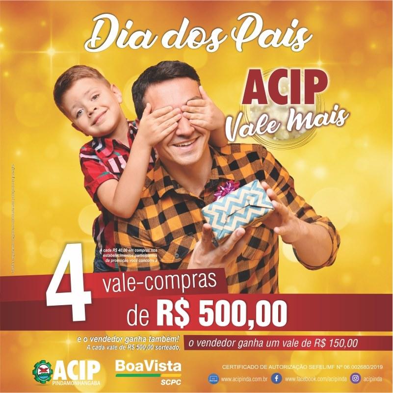 Promoção ACIP Vale Mais sorteia R$ 2 mil em vale-compras