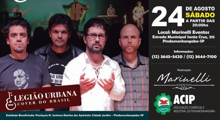 Evento Beneficente traz Legião Urbana Cover a Pindamonhangaba