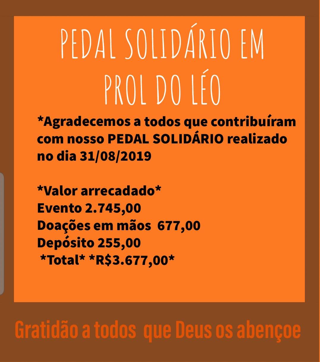 Organizadores comemoram sucesso do Pedal Solidário