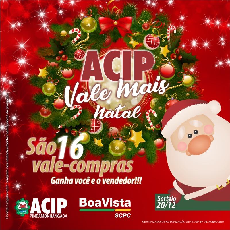 Promoção ACIP Vale Mais vai sortear vale-compras no Natal