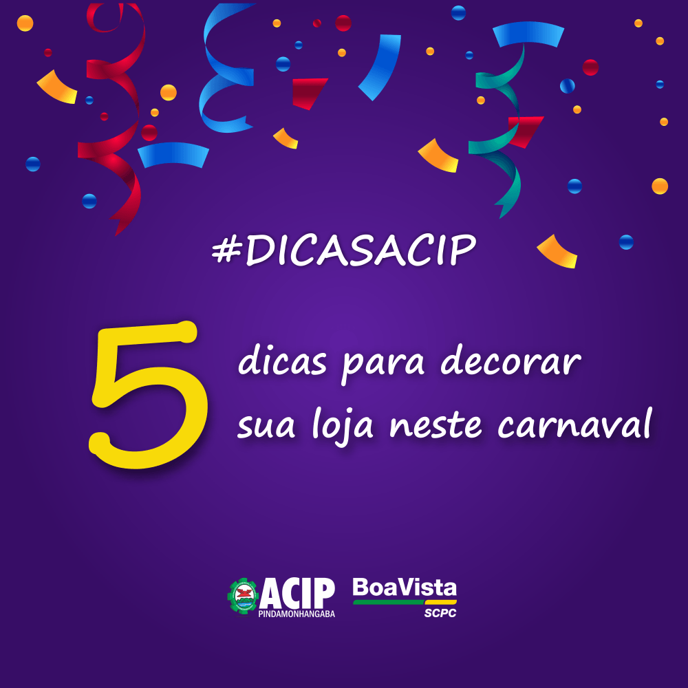 DICAS ACIP – Carnaval 2020