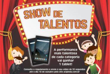 Show de talentos ACIP comemora mês das crianças