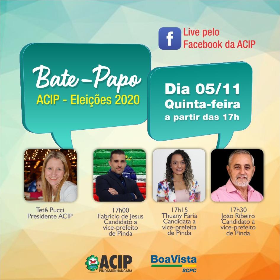 ACIP faz live com candidatos a vice-prefeitos