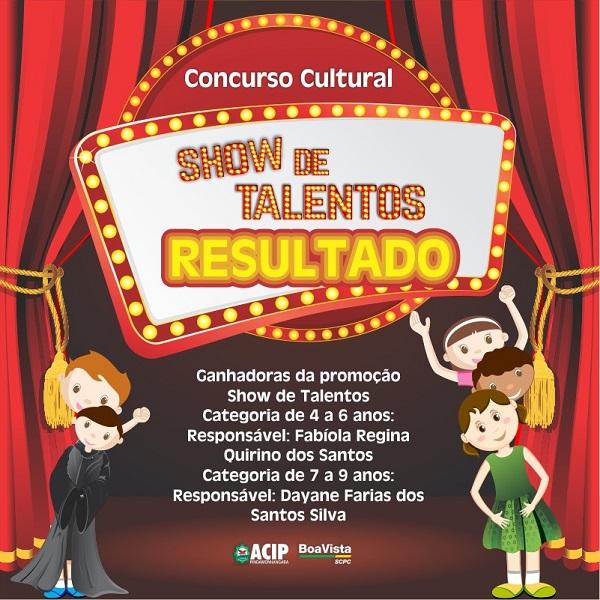 Associação Comercial divulga ganhadores do Concurso Cultural Show de Talentos